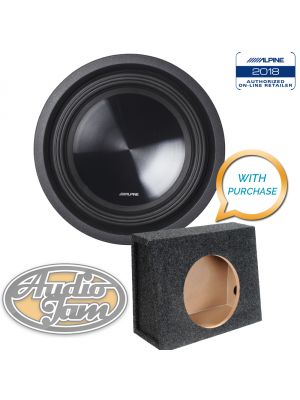 Alpine SWT-10S2 10 inch Subwoofer (2©) + 10TK Vented Subwoofer Enclosure Box (BUNDLE PACKAGE) (SWT10S2)