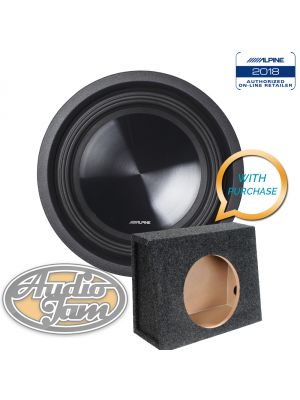 Alpine SWT-10S4 10 inch Subwoofer (4©) + 10TK Vented Subwoofer Enclosure Box (BUNDLE PACKAGE)
