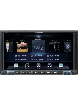 Alpine ILX-207 7 In-Dash Digital Multimedia Car Receiver w/ Built-in Bluetooth & Apple CarPlay (ILX207)
