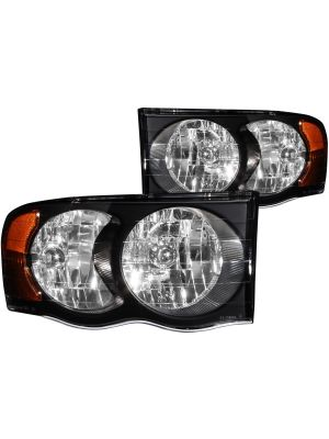 Anzo ANZ111022 Crystal Black Headlights for Ram 1500/2500/3500 2002 - 2005
