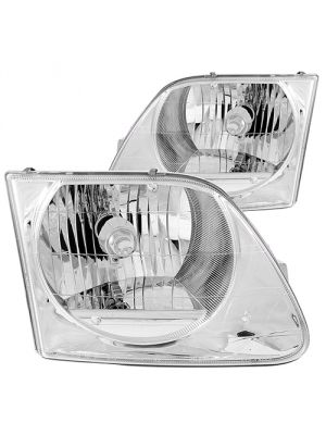 Anzo ANZ111030 Crystal Chrome Headlights for 1997 - 2002 Ford Expedition 1997 - 2003 Ford F150