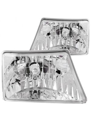 Anzo ANZ111037 Crystal Chrome Headlights for Ford 1998 - 2000 Ranger