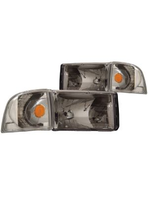 Anzo ANZ111068 Chrome with Corner Light Headlights for Dodge Ram 1500 1994 - 2001 / Ram 2500/3500 1994 - 2002