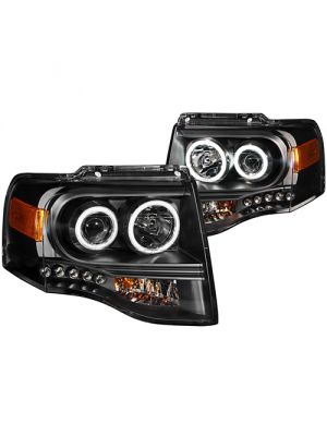 Anzo ANZ111113 Projector Black Clear Headlights for Ford Expedition 2007 - 2013