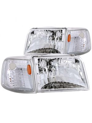 Anzo ANZ111119 Clear with Amber Corners Headlights for Ford 1993 - 1997 Ranger