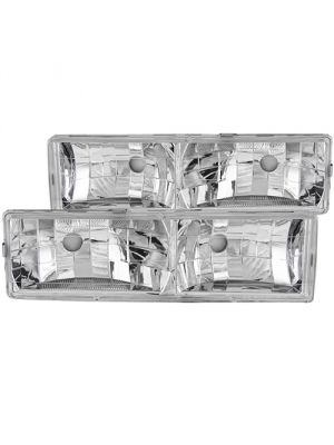 Anzo ANZ111136 Crystal Clear Headlights for Chevy/GMC C/K1500/2500 88-98 / C/K3500 88-00 / Suburban 92-99 / Blazer (full-size) 92-94 / Tahoe 95-99 / Yukon 92-99