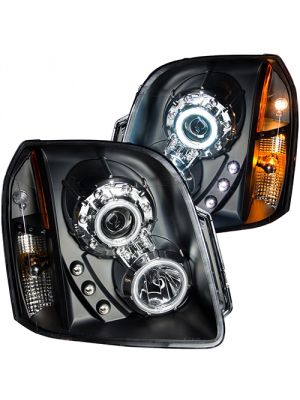 Anzo ANZ111148 Black Projector with Halo Amber (CCFL) Headlights for GMC Yukon/XL/Denali 2007 - 2014