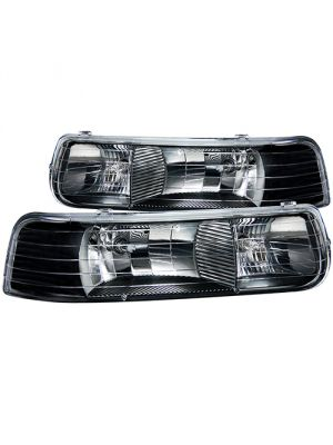 Anzo ANZ111155 Black Clear Headlights for Chevrolet 1500/2500 1999 - 2002 & 3500 2001 - 2002 & Suburban / Tahoe 2000 - 2006