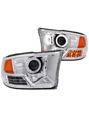 Anzo ANZ111160 Projector Halo L.E.D Chrome (CCFL) Headlights for Dodge Ram 1500 2009 - 2015 & Dodge Ram 2500/3500 2010 - 2015