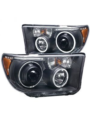 Anzo ANZ111174 Black Projector with Halo (CCFL) Headlights for Toyota Tundra 2007 - 2013 & Sequoia 2008 - 2014