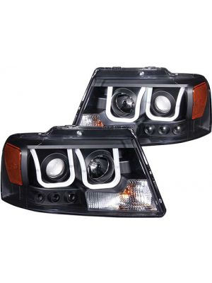 Anzo ANZ111288 Projector Black Clear with U-Bar Headlights for 2004 - 2008 Ford F150