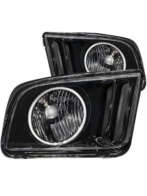 Anzo ANZ121033 Black with Halo CCFL Headlights for Ford 2005 - 2009 Mustang
