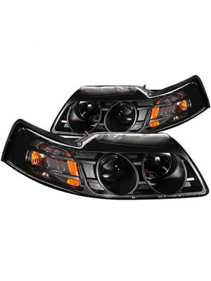 Anzo ANZ121042 Projector Black  Headlights for Ford 1999 - 2004 Mustang