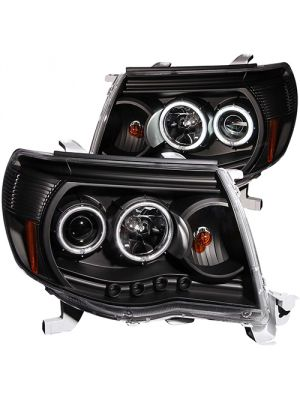 Anzo ANZ121282 Black Projector with Halo (CCFL) Headlights for Toyota Tacoma 2005 - 2011