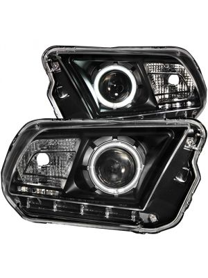 Anzo ANZ121323 Projector Halo Black Clear (CCFL)  Headlights for Ford 2010 - 2013 Mustang