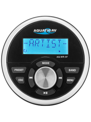 Aquatic AV AQ-WR-5F Wired Remote Control For Select Aquatic AV Marine Stereos (AQWR5F)