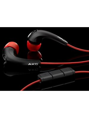 AKG K328VRD Passive Noise Cancelling In-ear Headphones (Black/Red)