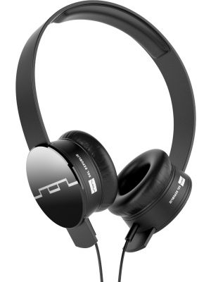 SOL REPUBLIC 1211-01 Tracks On-Ear Headphones with Three-Button Remote and Microphone, Black