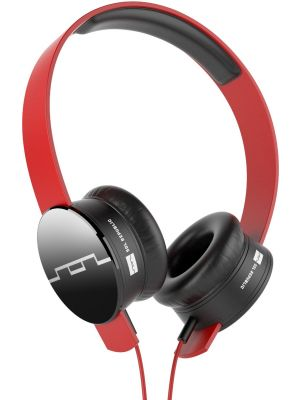 SOL REPUBLIC 1211-03 Tracks On-Ear Headphones with Three-Button Remote and Microphone, Red