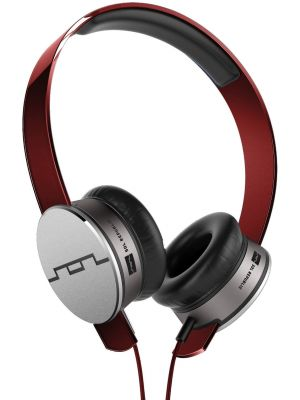 SOL REPUBLIC 1241-03 Tracks HD On-Ear Headphones with Three-Button Remote and Microphone, Red