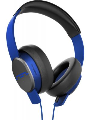 SOL REPUBLIC 1601-36 Master Tracks Over-Ear Headphones with Three-Button Remote and Microphone, Electro Blue