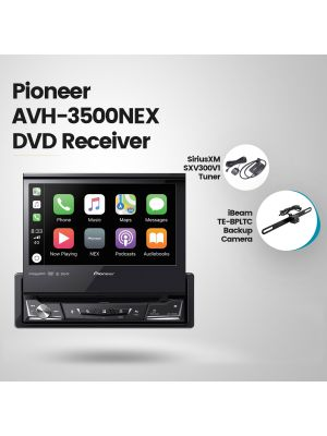 Pioneer AVIC-W8500NEX Navigation Receiver + SiriusXM SXV300V1 Tuner + iBeam TE-BPLTC Backup Camera + Bracketron PHW203BL Windshield Mount (BUNDLE PACKAGE)
