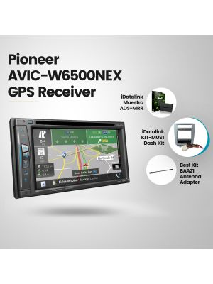 Pioneer AVIC-W6500NEX Navigation Receiver [2010+ Ford Mustang Vehicles Car Audio] (BUNDLE PACKAGE)