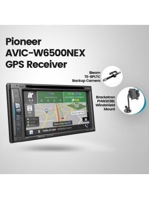 Pioneer AVIC-W6500NEX Navigation Receiver + iBeam TE-BPLTC Backup Camera + Bracketron PHW203BL Windshield Mount (BUNDLE PACKAGE)