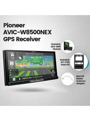 Pioneer AVIC-W8500NEX Navigation Receiver [2015+ Ford pickups Vehicles Car Audio] (BUNDLE PACKAGE)