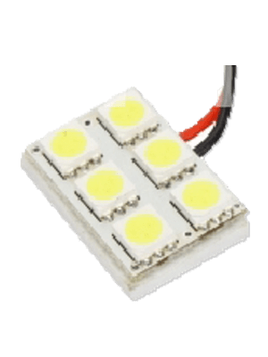 Luminous BD-6SMD-WH 6 5050 LED Board - White (Single)