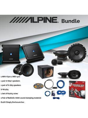 Alpine MRV-F300 Amplifier & S-S65C 6-1/2