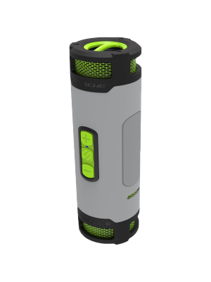 Scosche BTBPTSGY Boombottle+ Waterproof Bluetooth Speaker - Grey/Neon Green