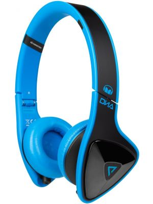 Monster® MH-DNA-ON-BK-BL-CA-WW On-Ear Headphones with ControlTalk™ (Laser Blue)