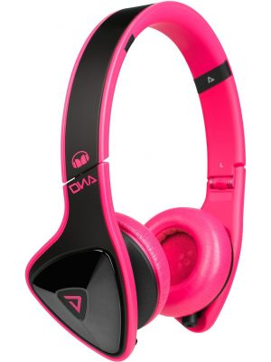 Monster® MH-DNA-ON-BK-PNK-CA-WW On-Ear Headphones with ControlTalk™ (Laser Pink)