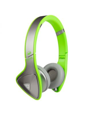 Monster® MH-DNA-ON-SLVGR-CA-WW DNA On-Ear Headphones with ControlTalk™ (Silver and Neon Green)