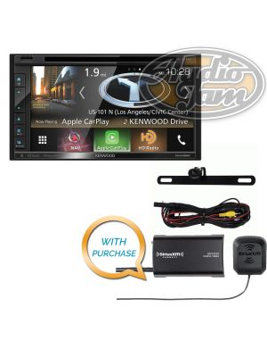 Kenwood Excelon DNX695S Navigation Receiver with iBeam TE-BPCIR License Plate Camera & SiriusXM SXV300v1 Tuner