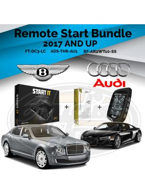 Compustar FT-DC3-LC Remote Start Module & ADS-THR-AU1 Harness & Arctic Start RF-AR2WT10-SS Remote (2017-Up Audi & Bentley Vehicles)