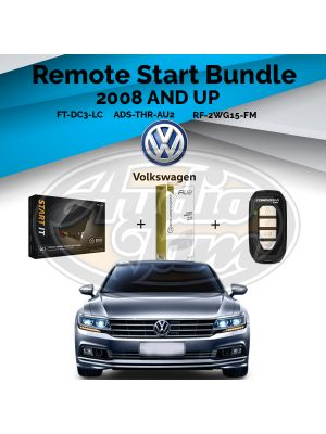 Compustar FT-DC3-LC Remote Start Module & ADS-THR-AU2 Harness & Compustar RF-2WG15-FM Remote (2008-2018 Audi and Volkswagen)