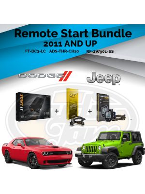 Compustar FT-DC3-LC Remote Start Module & ADS-THR-CH10 Harness & Compustar RF-2W901-SS Remote (2011-Up Chrysler, Dodge, Jeep, and Ram Vehicles)