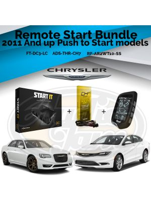 Compustar FT-DC3-LC Remote Start Module & ADS-THR-CH7 Harness & Arctic Start RF-AR2WT10-SS Remote (2011-Up Chrysler Vehicles)