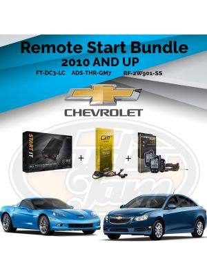 Compustar FT-DC3-LC Remote Start Module & ADS-THR-GM7 Harness & Compustar RF-2W901-SS Remote (2010-Up GM Vehicles)