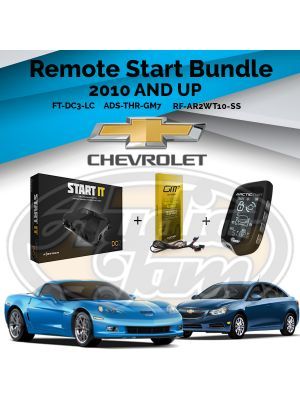 Compustar FT-DC3-LC Remote Start Module & ADS-THR-GM7 Harness & Arctic Start RF-AR2WT10-SS Remote (2010-Up GM Vehicles)
