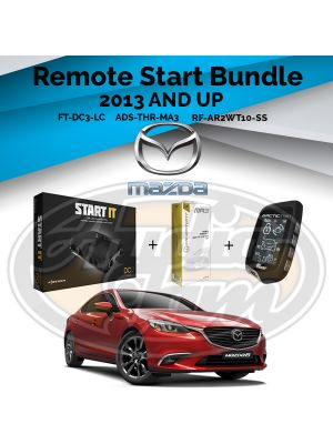 Compustar FT-DC3-LC Remote Start Module & ADS-THR-MA3 Harness & Arctic Start RF-AR2WT10-SS Remote (2013-Up Mazda, Scion, and Toyota Vehicles)
