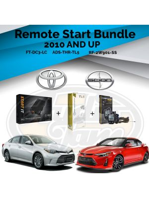 Compustar FT-DC3-LC Remote Start Module & ADS-THR-TL5 Harness & Compustar RF-2W901-SS Remote (2010-Up Toyota and Scion Vehicles)