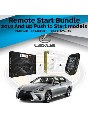 Compustar FT-DC3-LC Remote Start Module & ADS-THR-TL7 Harness & Arctic Start RF-AR2WT10-SS Remote (2010-Up Toyota and Lexus Vehicles)
