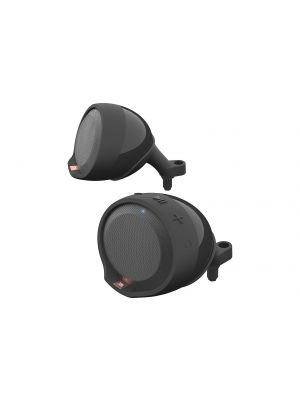 JBL Cruise Handlebar-mount Bluetooth® speaker pods for motorcycles and scooters (Black)