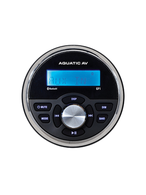 Aquatic AV GP1 Gauge Size Waterproof Marine Stereo