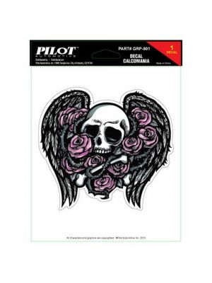 Pilot Automotive GRP-501 Winged Skull Decal