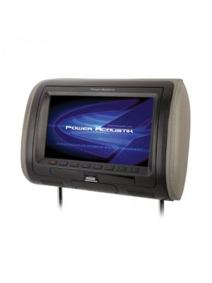 Power Acoustik HDVD71CC Universal Replacement Headrest Preloaded w/ DVD Player & 7