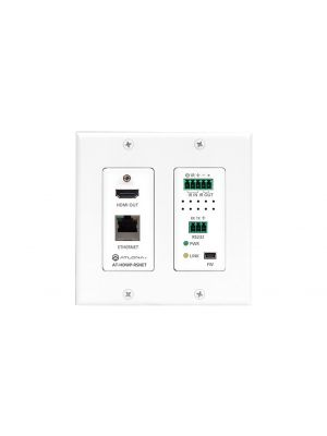 Atlona HDHDWP-RSNET DBaseT 2-Gang US Decora Wall Plate Receiver With HDMI, Ethernet